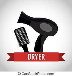hair dryer design - hair dryer design, vector illustration...
