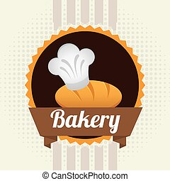 bakery label design, vector illustration eps10 graphic