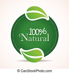 100 percent natural design, vector illustration eps10...