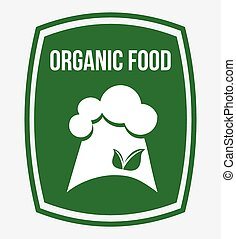 organic food - organic food design, vector illustration...