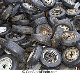 Old Tyres Background