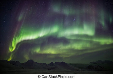 Northern Lights in the Arctic, Spitsbergen