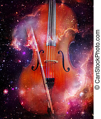 Space Cello - Classic cello overlaid with space fantasy...