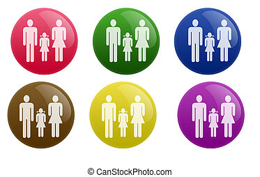 Glossy Family Button