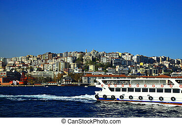 Kabatas (Beyoglu), Istanbul. - View of the Kabatas...