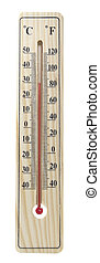 de madera, thermometer, ,