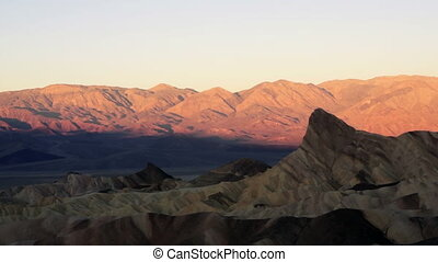 Sunrise Badlands Amargosa Mountain - Sunrise comes to Death...
