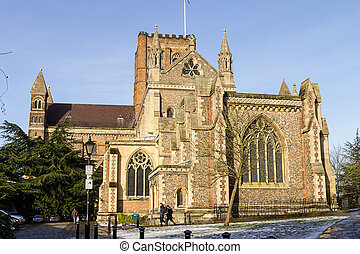 Cathedral and Abbey Church in StAlbans, UK - Cathedral and...