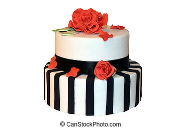 Striped Wedding Cake - Beautiful striped wedding cake ready...
