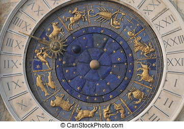 Zodiac Clock in Venice - Beautiful zodiac clock at the...