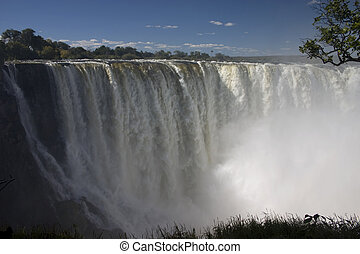 Victoria Falls - A shot of one of the falls at Victoria...