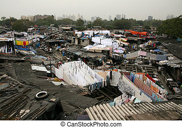 Dhoby Ghat Laundry, Bombay, India - Dhoby Ghat Laundry - the...
