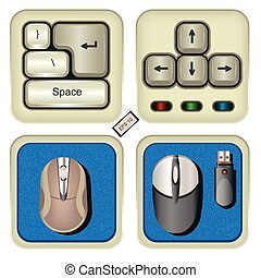 keyboard and mouse icons.
