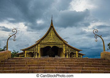 Thailand temple - Buddhist temple in the Northeast of...