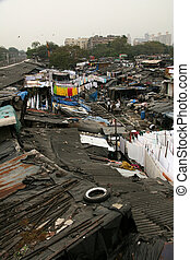 Dhoby Ghat Laundry, Mumbai, India - Dhoby Ghat Laundry - the...