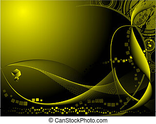Abstract hi-tech background. Vector colored cover illustration