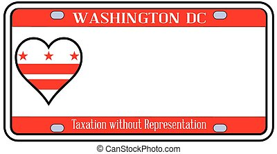 Washington DC License Plate - Washington DC state license...