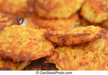 Potato latkes - Hanukkah Jewish Holiday Food - Potato latke...