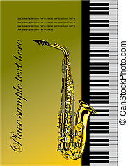Piano with saxophone