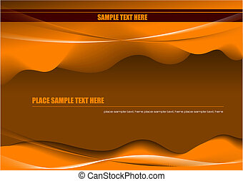 Abstract hi-tech background. Vector desert colored illustration
