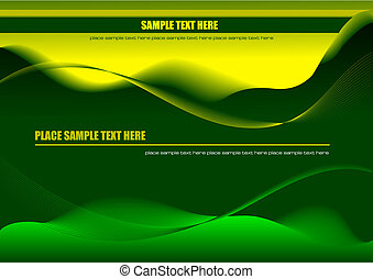 Abstract hi-tech green background. Vector colored illustration