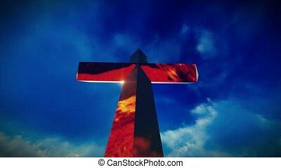 Christian Cross on a mountain - The Christian Cross on a...