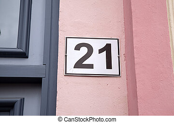Number Twenty-One in Pink Wall