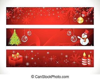 abstract christmas web banner
