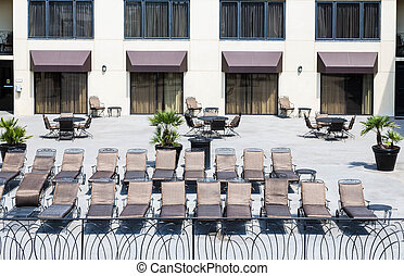 Chaise Lounges on Hotel Patio