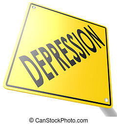 Road sign with depression image with hi-res rendered artwork...