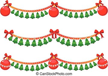Christmas garland - illustration of a Christmas garland