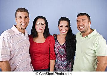 Portrait of happy couples
