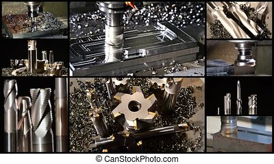 milling machine collage - collage including milling machines...
