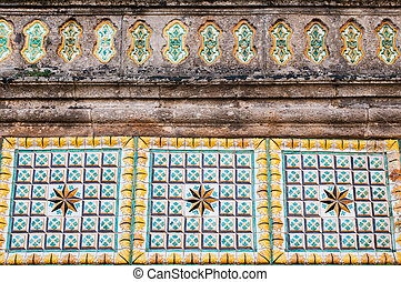 Sicilian craftsmanship - Typical colored tiles from...
