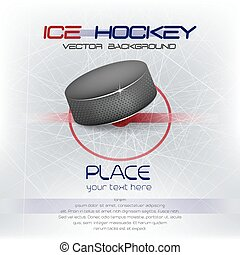 Ice hockey vector background - Ice hockey background with...