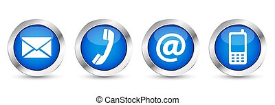 Web Contact Us Buttons - Contact us web buttons set with...