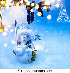Kunst, Weihnachten, hintergrund, Feiertage
