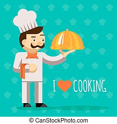 I love cooking. Cook with tray and delicious dish