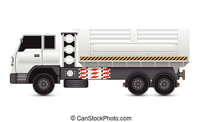 Truck - Illustration of tipper trucks isolated on white...