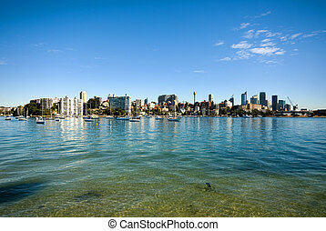 Rose Bay, Sydney, Australia - The crystal-clear waters of...