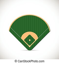 Baseball Field Illustration - Illustration of a baseball...