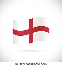 England Flag Illustration