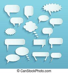 Paper Chat Bubbles - Illustration of paper chat bubbles...