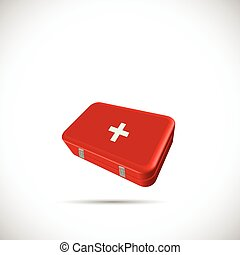 First Aid Kit - Illustration of a first aid kit isolated on...