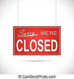Closed Sign Illustration - Illustration of an business...