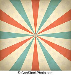 Retro vector background with blue and orange lines and stars...