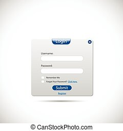 Web Login Panel - Illustration of a web login panel isolated...