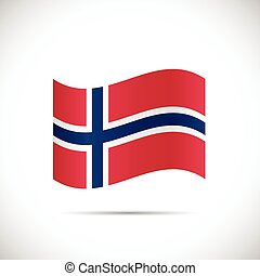 Norway Flag Illustration