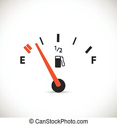 Gas Gage Illustration - Illustration of a gas gage isolated...