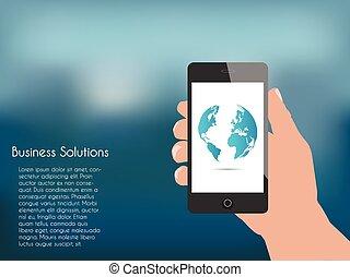 Phone Hand Illustration